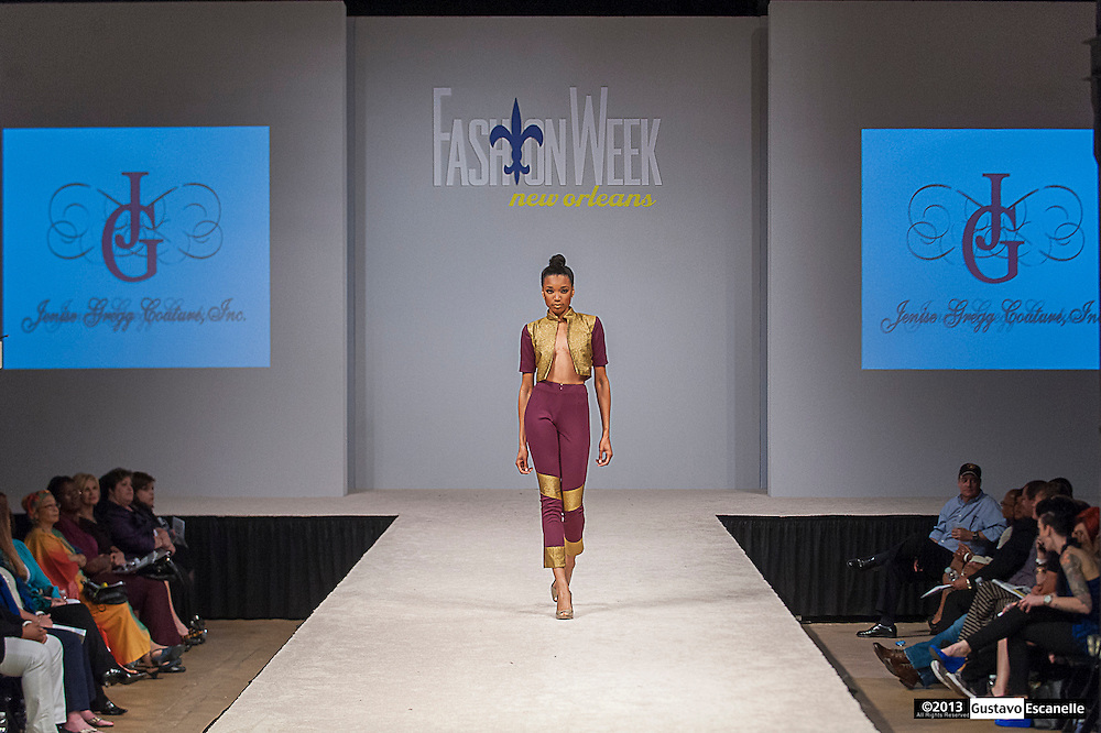 Jenny Gregg Couture, Inc showing their collection at Fashion Week New Orleans.