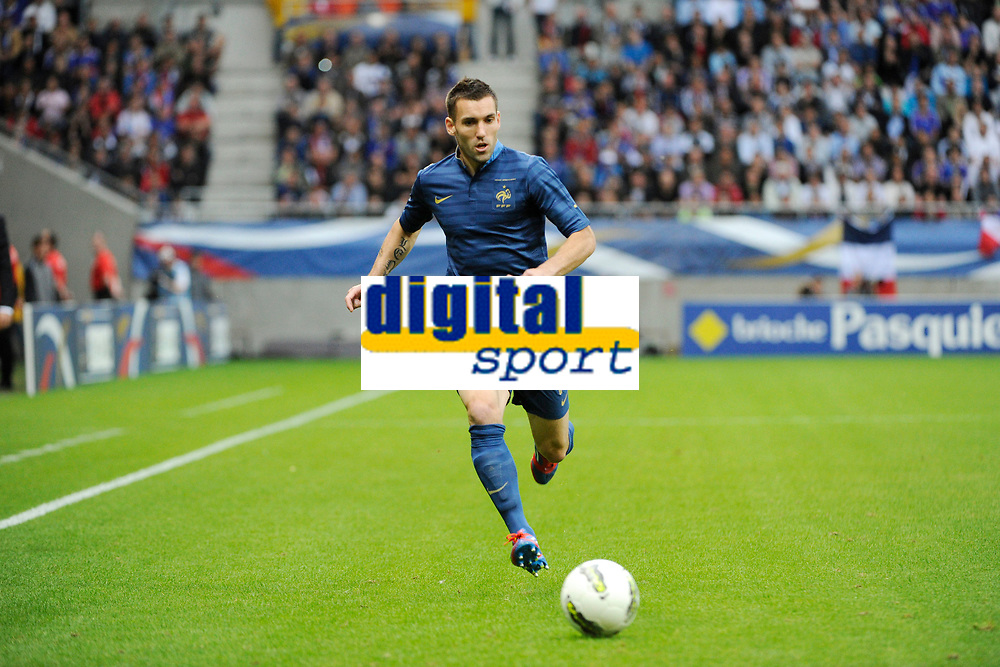 FOOTBALL - FRIENDLY GAME 2012 - FRANCE v SERBIA - REIMS (FRANCE) - 31/05/2012 - PHOTO JEAN MARIE HERVIO / REGAMEDIA / DPPI - ANTHONY REVEILLERE (FRA)