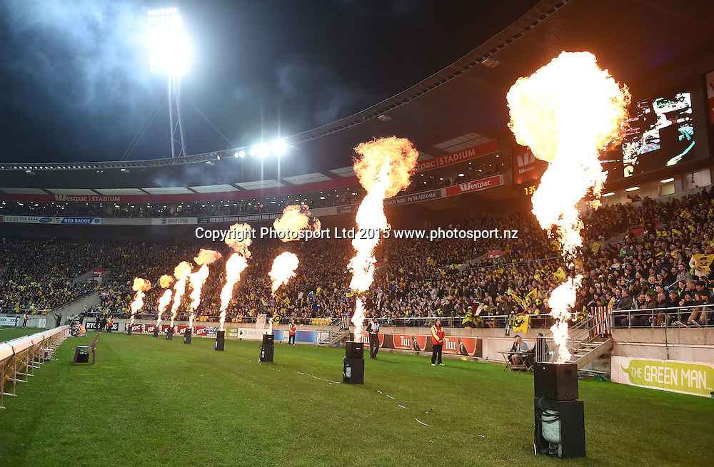 General view during the Super Rugby Final between the Hurricanes and Highlanders at Westpac Stadium in Wellington., New Zealand. Saturday 4 July 2015. Copyright Photo: Andrew Cornaga / www.Photosport.nz