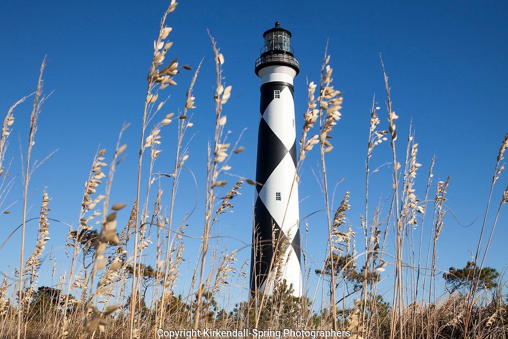NC00870-00....NORTH CAROLINA - Cape Lookout Lighthouse on the South Core Banks in Cape Lookout National Seashore.