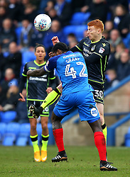 Rory Gaffney of Bristol Rovers challenges Anthony Grant of Peterborough United - Mandatory by-line: Robbie Stephenson/JMP - 24/03/2018 - FOOTBALL - ABAX Stadium - Peterborough, England - Peterborough United v Bristol Rovers - Sky Bet League One