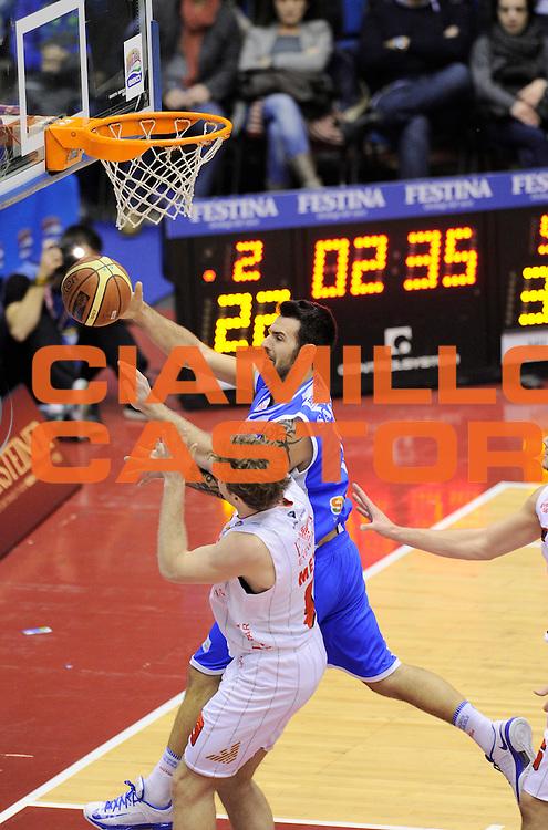 DESCRIZIONE : Milano Coppa Italia Final Eight 2014 Quarti Olimpia EA7 Milano Banco di Sardegna Sassari<br /> GIOCATORE : Brian Sacchetti<br /> CATEGORIA : tagliafuori difesa rimbalzo<br /> SQUADRA : Banco di Sardegna Sassari <br /> EVENTO : Beko Coppa Italia Final Eight 2014 <br /> GARA : Olimpia EA7 Milano Banco di Sardegna Sassari<br /> DATA : 07/02/2014 <br /> SPORT : Pallacanestro <br /> AUTORE : Agenzia Ciamillo-Castoria/N.Dalla Mura<br /> GALLERIA : Lega Basket Final Eight Coppa Italia 2014 <br /> FOTONOTIZIA : Milano Coppa Italia Final Eight 2014 Quarti Olimpia EA7 Milano Banco di Sardegna Sassari