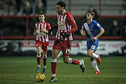 Matt Crooks (Accrington Stanley) during the Sky Bet League 2 match between Accrington Stanley and Hartlepool United at the Fraser Eagle Stadium, Accrington, England on 19 January 2016. Photo by Mark P Doherty.