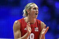 Taylor Averill USA<br /> Torino 28-09-2018 Pala Alpitour <br /> FIVB Volleyball Men's World Championship <br /> Pallavolo Campionati del Mondo Uomini <br /> Third round<br /> Brasile - Usa / Brazil - USA<br /> Foto Antonietta Baldassarre / Insidefoto