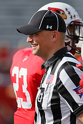 29 October 2016:  Umpire Edward Laco. NCAA FCS Football game between South Dakota State Jackrabbits and Illinois State Redbirds at Hancock Stadium in Normal IL (Photo by Alan Look)