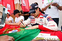 20100527: LOULE, ALGARVE, PORTUGAL - Portugal WRC Rally 2010 - Drivers signing autographs. In picture: Dani Sordo (SPA) - Citroen Total WRT. PHOTO: CITYFILES