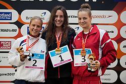 LORANDI Elodie, RIVARD Aurelie, JABLONSKA Oliwia FRA, CAN, POL at 2015 IPC Swimming World Championships -  Women's 400m Freestyle S10