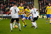 Leeds United defender Aapo Halme (52)  on the ball during the EFL Sky Bet Championship match between Sheffield United and Leeds United at Bramall Lane, Sheffield, England on 1 December 2018.