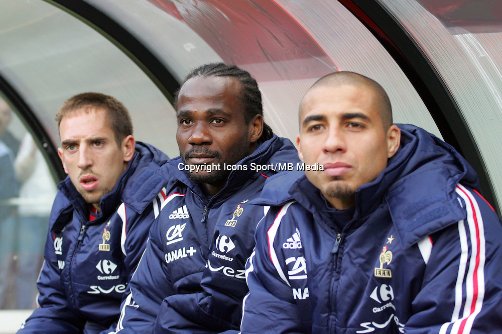 Franck RIBERY / Pascal CHIMBOMDA / David TREZEGUET  -  31.05.2006 - France / Danemark -Amical - Stade Felix Bollaert de Lens <br />
