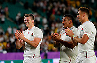 Rugby Union - 2019 Rugby World Cup - Quarter-Final: England vs. Australia<br /> <br /> Owen Farrell of England celebrates at Oita Stadium, Oita Prefecture.<br /> <br /> COLORSPORT/LYNNE CAMERON