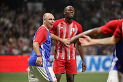 Alain BOGHOSSIAN (France 98) and Usain Bolt (FIFA 98) during the 2018 Friendly Game football match between France 98 and FIFA 98 on June 12, 2018 at U Arena in Nanterre near Paris, France - Photo Stephane Allaman / ProSportsImages / DPPI