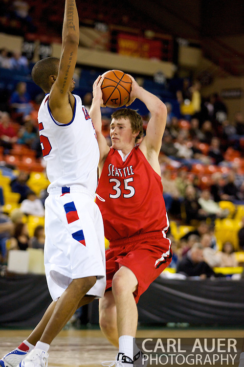 November 27, 2008: Seattle University forward Leigh Swanson (35) drives into the lane in the opening round of the 2008 Great Alaska Shootout at the Sullivan Arena