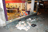 Debenhams shop riot damaged at Clapham Junction