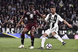 May 3, 2019 - Torino, Torino, Italia - Foto LaPresse - Marco Alpozzi.03 Maggio 2019 Torino, Italia .Sport.Calcio.Juventus Fc vs Torino Fc - Campionato di calcio Serie A TIM 2018/2019 - Allianz Stadium..Nella foto: Soualiho Meite (Torino Fc); Leonardo Spinazzola (Juventus F.C.);..Photo LaPresse - Marco Alpozzi.May 03, 2019 Turin, Italy.sport.soccer.Juventus Fc vs Torino Fc - Italian Football Championship League A TIM 2018/2019 - Allianz Stadium..In the pic:  Soualiho Meite (Torino Fc); Leonardo Spinazzola  (Credit Image: © Marco Alpozzi/Lapresse via ZUMA Press)