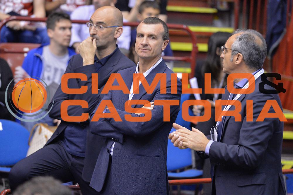 DESCRIZIONE : Campionato 2013/14 Quarti di Finale GARA 2 Olimpia EA7 Emporio Armani Milano - Giorgio Tesi Group Pistoia <br /> GIOCATORE : Livio Proli<br /> CATEGORIA : Ritratto<br /> SQUADRA : EA7 Emporio Armani Milano<br /> EVENTO : LegaBasket Serie A Beko Playoff 2013/2014 <br /> GARA : Olimpia EA7 Emporio Armani Milano - Giorgio Tesi Group Pistoia <br /> DATA : 21/05/2014 <br /> SPORT : Pallacanestro <br /> AUTORE : Agenzia Ciamillo-Castoria / I.Mancini <br /> Galleria : LegaBasket Serie A Beko Playoff 2013/2014 <br /> Fotonotizia : Campionato 2013/14 Quarti di Finale GARA 2 Olimpia EA7 Emporio Armani Milano - Giorgio Tesi Group Pistoia Predefinita :