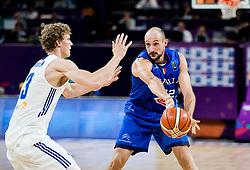 Lauri Markkanen of Finland vs Marco Cusin of Italy during basketball match between National Teams of Finland and Italy at Day 10 in Round of 16 of the FIBA EuroBasket 2017 at Sinan Erdem Dome in Istanbul, Turkey on September 9, 2017. Photo by Vid Ponikvar / Sportida