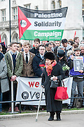 Tony Benn's funeral at 11.00am at St Margaret's Church, Westminster. His body was brought in a hearse from the main gates of New Palace Yard at 10.45am, and was followed by members of his family on foot. The rout was lined by admirers. On arrival at the gates it was carried into the church by members of the family. Thursday 27th March 2014, London, UK. Guy Bell, 07771 786236, guy@gbphotos.com