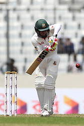 August 29, 2017 - Mirpur, Dhaka, Bangladesh - Bangladeshi Captain Mushfiqur Rahim plays a shot during the third day of the first Test cricket match between Bangladesh and Australia at the Sher-e-Bangla National Cricket Stadium in Dhaka on August 29, 2017. (Credit Image: © Ahmed Salahuddin/NurPhoto via ZUMA Press)
