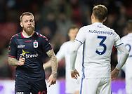 FODBOLD: Målscorer Martin Spelmann (AGF) jubler efter udligningen til 1-1 under kvartfinalen i DBU Pokalen mellem FC København og AGF den 7. april 2017 i Telia Parken, København. Foto: Claus Birch