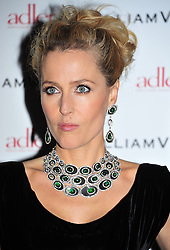 © Licensed to London News Pictures. 10/02/2012. London, England.Gillian Anderson attends a private dinner ahead of sundays Bafta awards hosted by William Banks-Blaney of WilliamVintage and actress Gillian Anderson at St Pancras Renaissance Hotel London  Photo credit : ALAN ROXBOROUGH/LNP