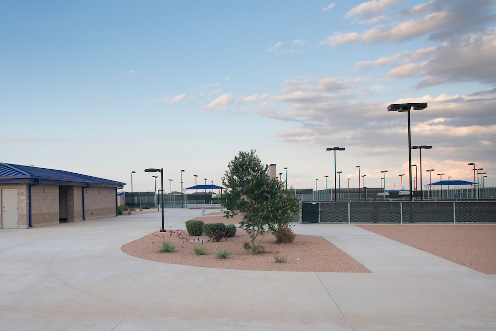 A general view of the Bush Tennis Center in Midland, Texas on August 12, 2014. (Cooper Neill for The New York Times)