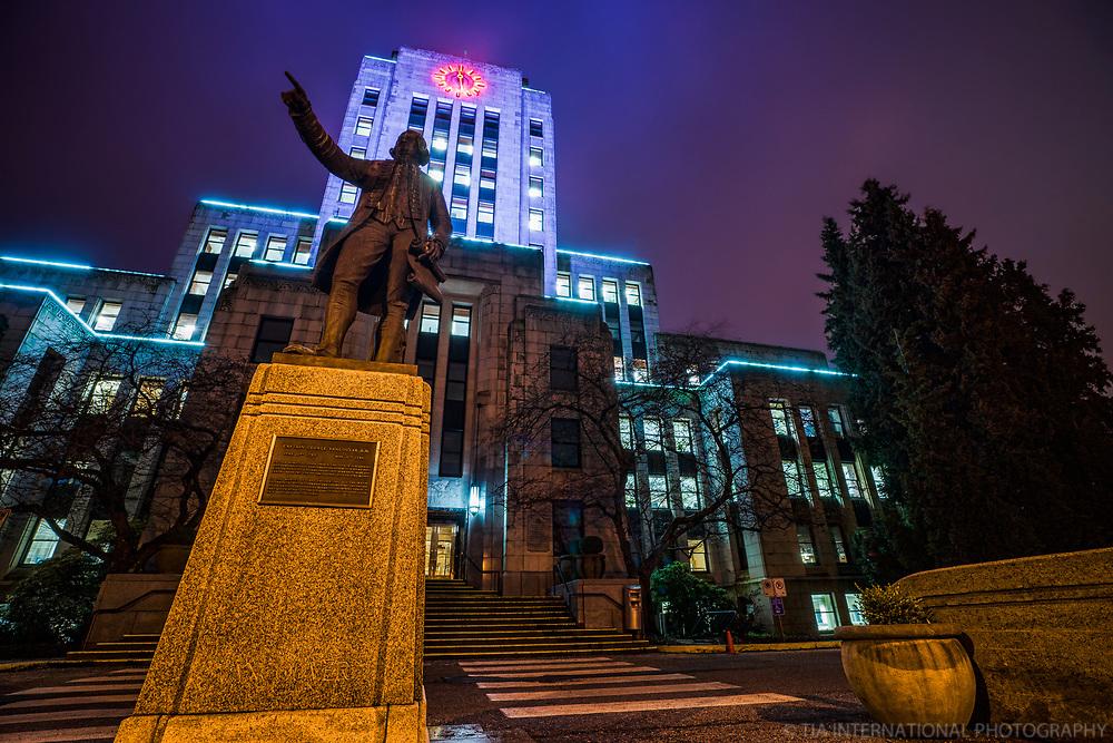 Vancouver City Hall @ Night