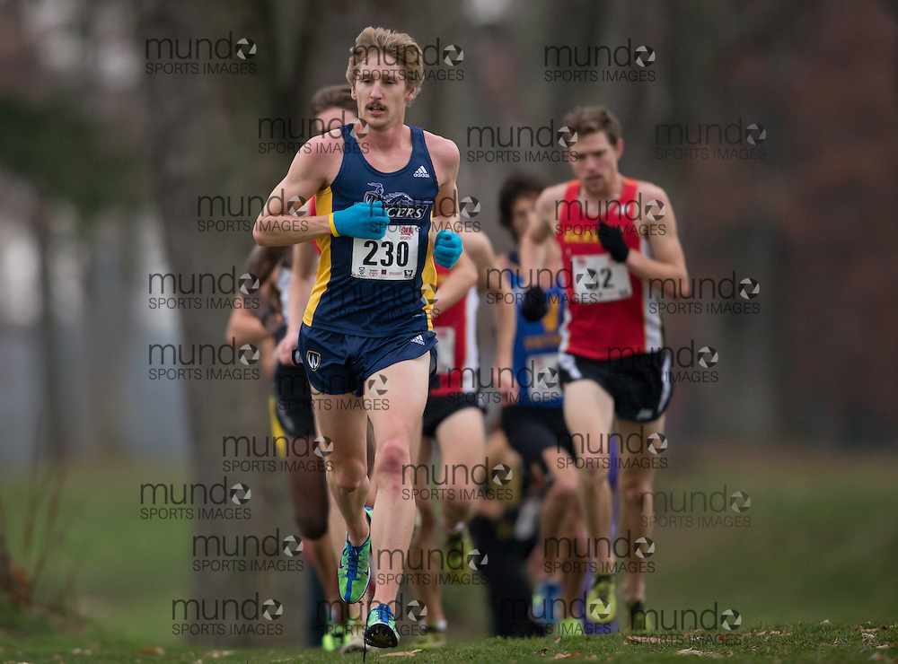 London, Ontario ---2012-11-10--- Mat Walters of Windsor Lancers competes at the 2012 CIS Cross Country Chamionships at Thames Valley Golf Course in London, Ontario, November 10, 2012. .GEOFF ROBINS Mundo Sport Images