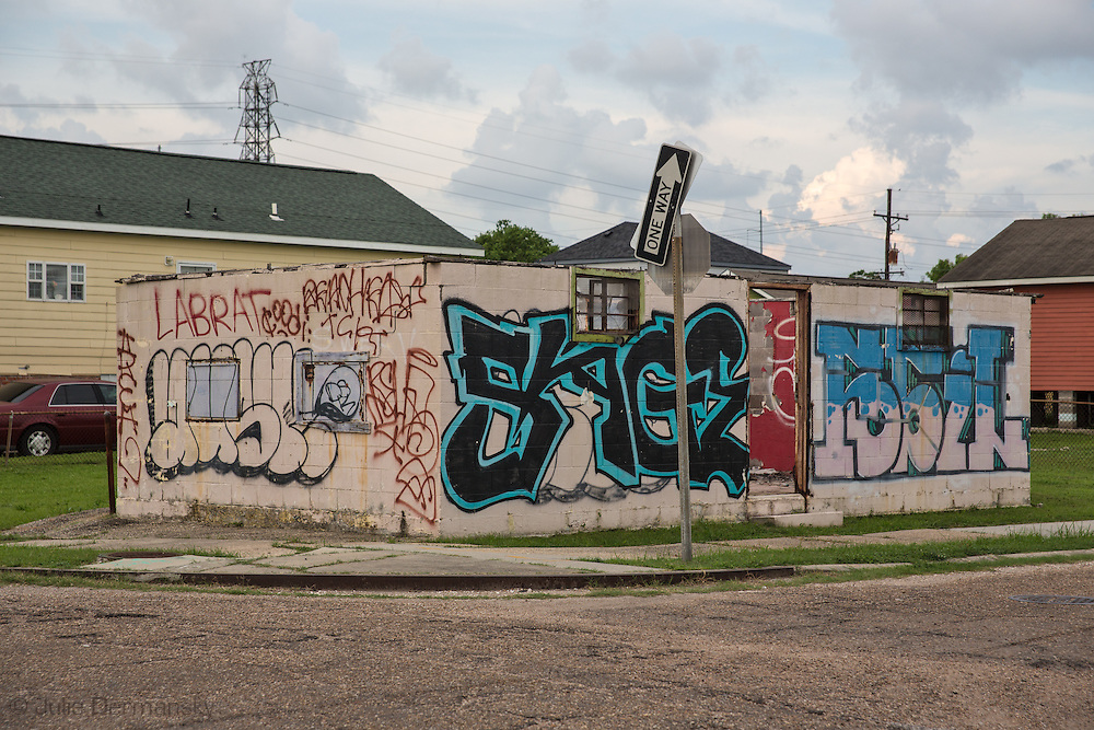 May 25, 2015, New Orleans, LA, Blighted home  in the 9th Ward almost ten years after Hurricane Katrina flooded the area.