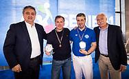 Da Sx a Dx<br /> Paolo Barelli Presidente FIN<br /> Attilio Paoletti<br /> Fabio Severo<br /> Giuseppe Marotta<br /> Premiazione Arbitri<br /> Final Four  Coppa Italia FIN Femminile pallanuoto 2016-17<br /> Centro Federale di Ostia, Roma, ITA<br /> 1 Aprile 2017<br /> &copy;Giorgio Scala / Deepbluemedia