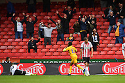 Preston North End midfielder Daniel Johnson (11)  celebrates scoring goal to go 2-2 during the EFL Sky Bet Championship match between Sheffield United and Preston North End at Bramall Lane, Sheffield, England on 22 September 2018. Picture. Ian Lyall