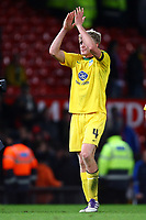 Football - League Cup Quarter Final - Manchester United vs. Crystal Palace<br /> Palace's Jonathan Parr applauds the travelling fans at Old Trafford