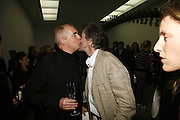 Neil Tennant and Mike Rundell, Work by Mexican artist, Gabriel Orozco. Gallery opening & private view at new White Cube space, 25-26 Mason's Yard, London and afterwards at Claridges. London. 27 September 2006. <br />