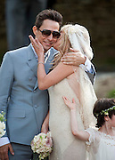 01/07/2011<br /> Kate Moss wedding, Southrop. Kate and Jamie Hince leave the church after their wedding.<br /> ©Darren Cools/exclusivepix