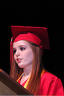 Clarice Perryman speaks during the 102nd commencement of West Carrollton High School at the Schuster Center in downtown Dayton, Thursday, May 24, 2012.  This is the 50th anniversary of the year the selection of speakers for (and other parts of) the commencement has been done by the students.