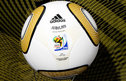 Jo'bulani official ball for the final at Adidas central for FIFA World Cup 2010 on June 30, 2010 at Nelson Mandela Square in Sandton Convention Centre in Johannesburg. (Photo by Vid Ponikvar / Sportida)