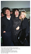 Mick Jagger, Liam Gallagher, Patsy Kensit.<br /> Vanity Fair Swinging London Party. River Cafe. London.20 November 1996.<br />Copyright Photograph by Dafydd Jones<br />66 Stockwell Park Rd. London SW9 0DA<br />Tel. 0171 733 0108
