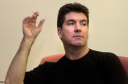 Simon Cowell  interviewed in Meadowhall Sheffield before he switched on the Shopping centres christmas lights n in November 2004