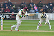 Eddie Byrom of Somerset batting during the Specsavers County Champ Div 1 match between Somerset County Cricket Club and Kent County Cricket Club at the Cooper Associates County Ground, Taunton, United Kingdom on 7 April 2019.