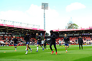 Tottenham Hotspur players warming up before the Premier League match between Bournemouth and Tottenham Hotspur at the Vitality Stadium, Bournemouth, England on 4 May 2019.