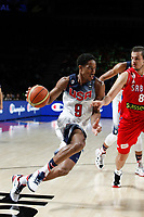 United States´s DeRozan (L) and Serbia´s Bjelica during FIBA Basketball World Cup Spain 2014 final match between United States and Serbia at `Palacio de los deportes´ stadium in Madrid, Spain. September 14, 2014. (ALTERPHOTOSVictor Blanco)