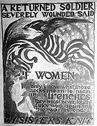 War poster asking women to knit.