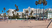 Loews Santa Monica Beach Hotel, Santa Monica, CA, beach; Beachfront, Luxury; Hotel; Bikepath; Sand; Sunset; Santa Monica; California; Bikepath; Sand; Sunset;