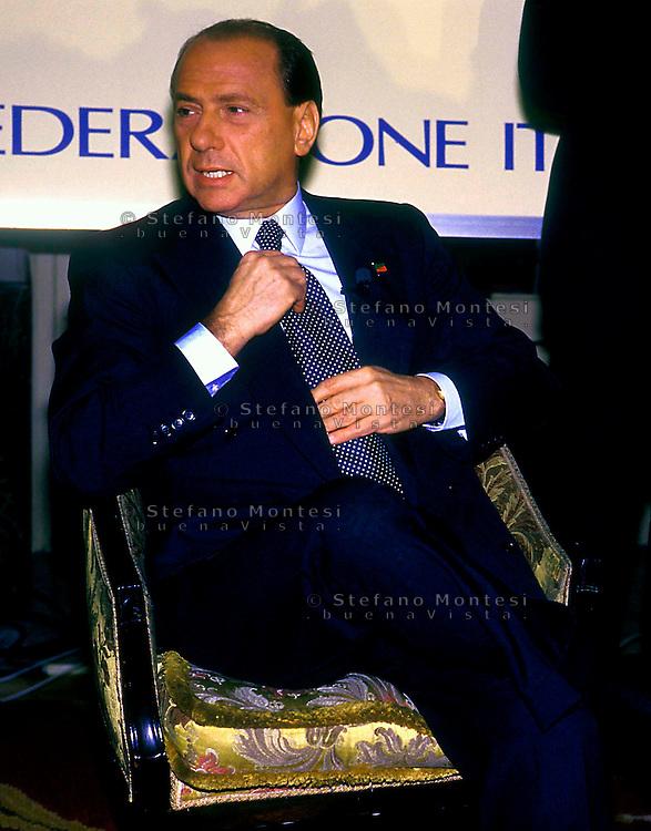 Roma  2001.Silvio Berlusconi Presidente del Consiglio .Silvio Berlusconi President of the Council