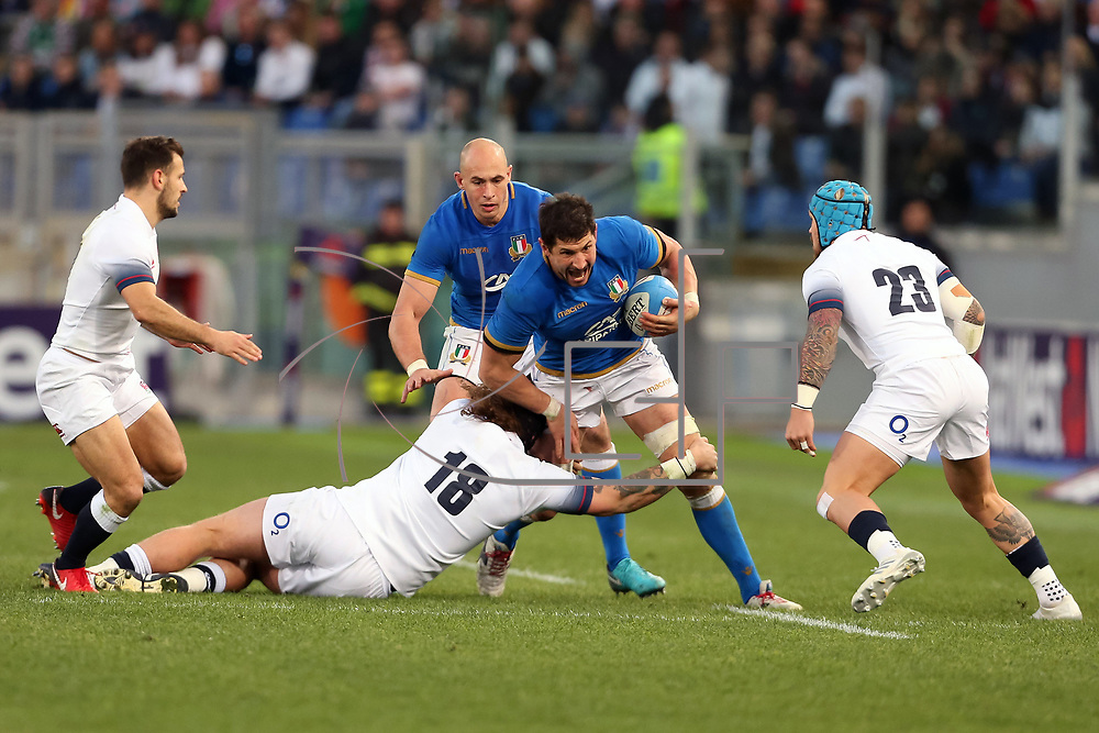 Roma 04/02/2018 Stadio Olimpico<br /> Natwest 6 nations Italia vs Inghilterra<br /> Alessandro Zanni