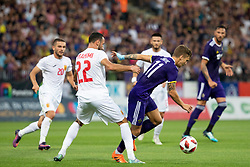 Labinot Ibrahimi of FK Partizani Tirana and Luka Zahovic of NK Maribor during 2nd Leg football match between NK Maribor and FK Partizani Tirana in 1st Qualifying Round of UEFA Europa League 2018/18, on July 19, 2018 in Ljudski vrt, Maribor, Slovenia. Photo by Urban Urbanc / Sportida