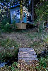 Shasta View Treehouse and Creek, Mt. Shasta, California, US