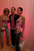 Hofit Golan, Scott Henshall and Jasmine Bennet. The Laurent-Perrier Pink Party in aid of The Prince's Trust at the Sanderson Hotel on April 27, 2005. ONE TIME USE ONLY - DO NOT ARCHIVE  © Copyright Photograph by Dafydd Jones 66 Stockwell Park Rd. London SW9 0DA Tel 020 7733 0108 www.dafjones.com