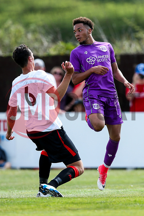 Freddie Hinds of Bristol City in action - Rogan/JMP - 09/07/2017 - The Creek - Bristol, England - Bristol Manor Farm v Bristol City - Pre-season Friendly.