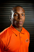 DALLAS, TX - JULY 21:  Oklahoma State cornerback Kevin Peterson poses for a portrait during the Big 12 Media Day on July 21, 2014 at the Omni Hotel in Dallas, Texas.  (Photo by Cooper Neill/Getty Images) *** Local Caption *** Kevin Peterson