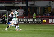 Dundee&rsquo;s Rory Loy fires in a shot which was saved by Celtic goalkeper Craig Gordon  - Dundee v Celtic, Ladbrokes Scottish Premiership at Dens Park<br />  <br />  - &copy; David Young - www.davidyoungphoto.co.uk - email: davidyoungphoto@gmail.com
